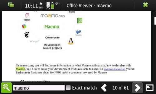 Il viewer di Nokia basato su KOffice