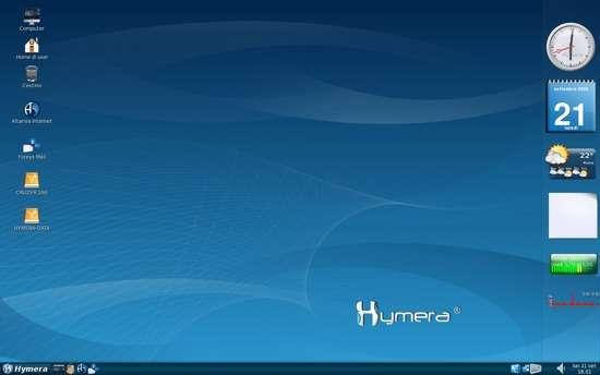 Il desktop standard di Hymera