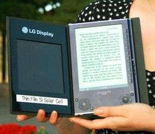 Prototipo di ebook reader solare di LG