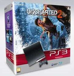 PS3 Slim + Uncharted 2