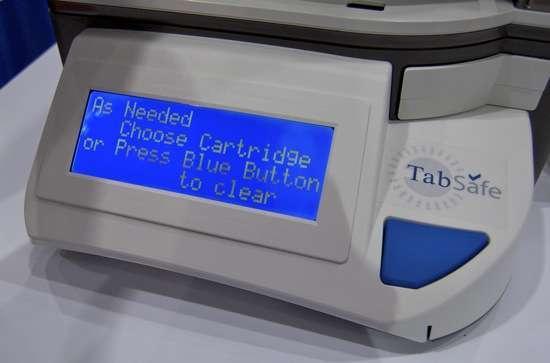 un avviso sul display di TabSafe