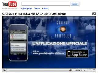 grande fratello su YouTube