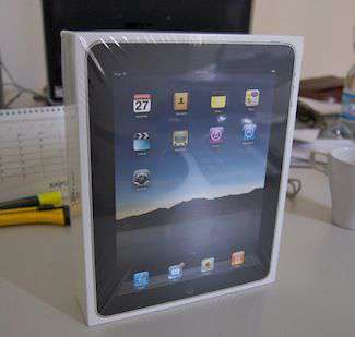 la confezione di iPad