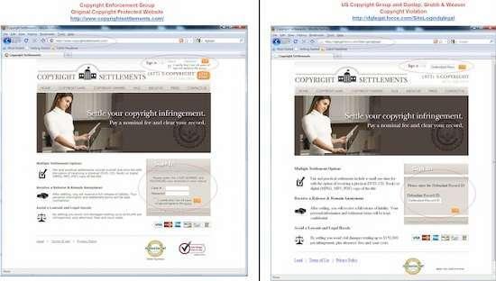i due siti a confronto