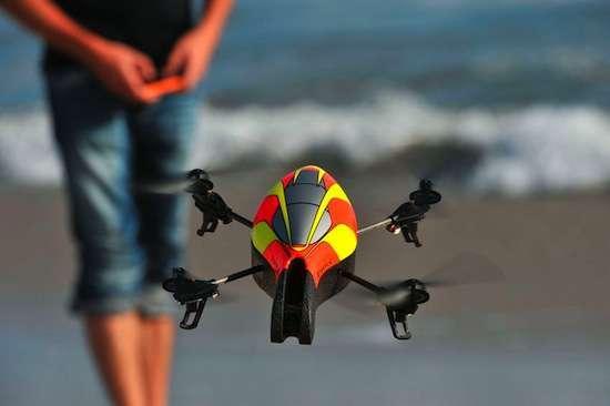 il drone in azione