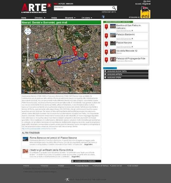 esempio di mappa delle informazioni, tratto da arte.it
