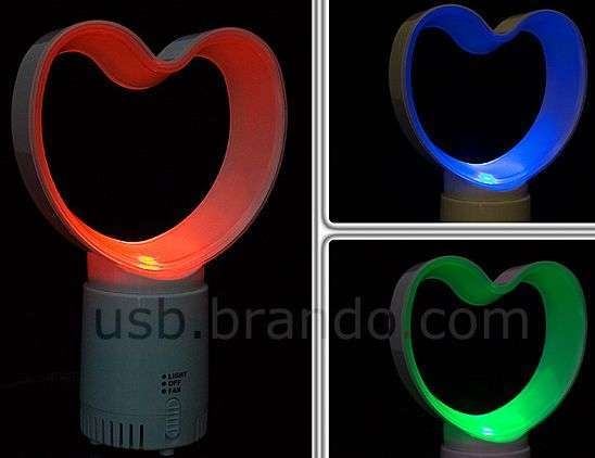 USB Heart Aromatic Electric Fan