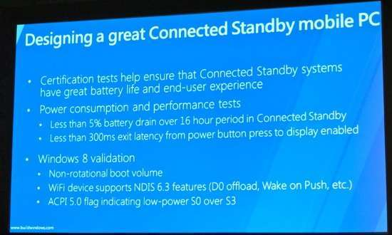I requisiti per una macchina dotata di connected standby