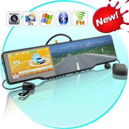 Complete Car Bluetooth Rearview Mirror Kit