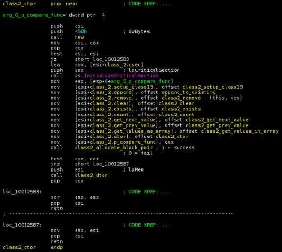un esempio di codice del payload dll di duqu