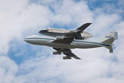 Lo Shuttle sul jumbo jet