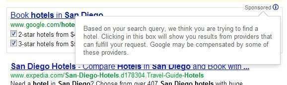 ricerca di hotel