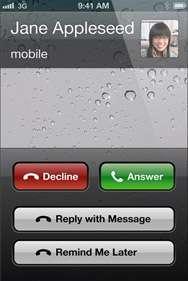 occupato intelligente alle telefonate su ios6