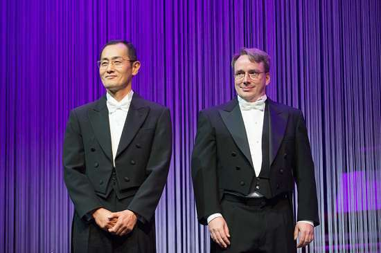 i vincitori del millennium technology prize 2012 Shinya Yamanaka e Linus Torvalds