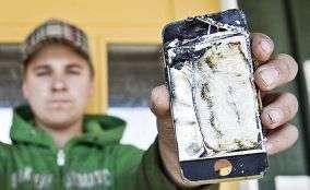 iphone bruciato