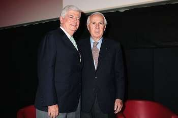 Chris Dodd con il presidente del Festival di Roma Paolo Ferrari