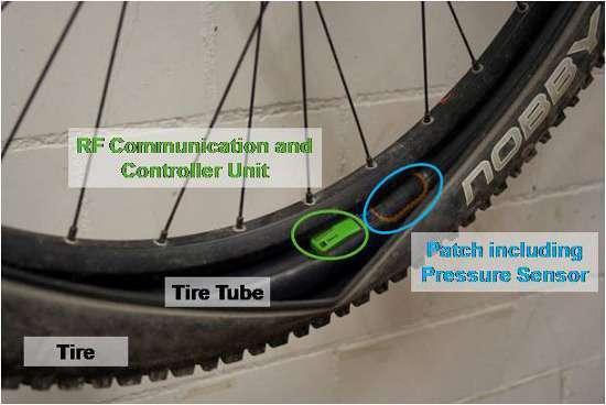 Sensore controllo pressione pneumatici