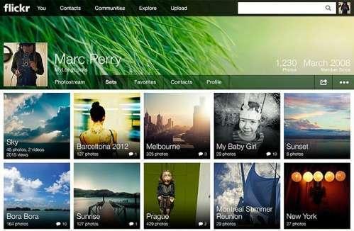 nuovo profilo Flickr