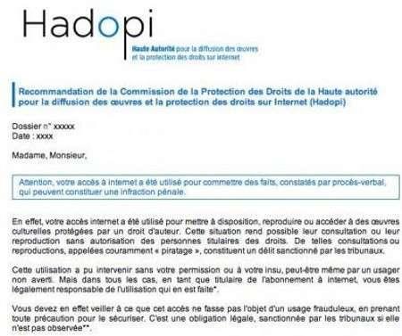 Email da HADOPI