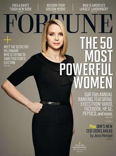 marissa mayer sulla copertina di fortune che incorona le 50 donne più potenti del mondo