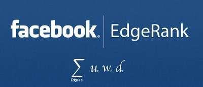 il logo di edgerank facebook