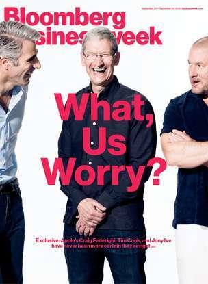 la copertina di businessweek dedicata a apple e tim cook