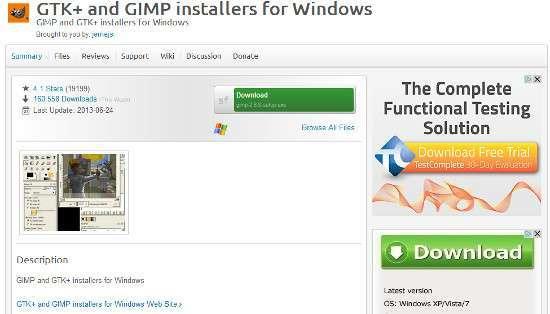 GIMP su Sourceforge