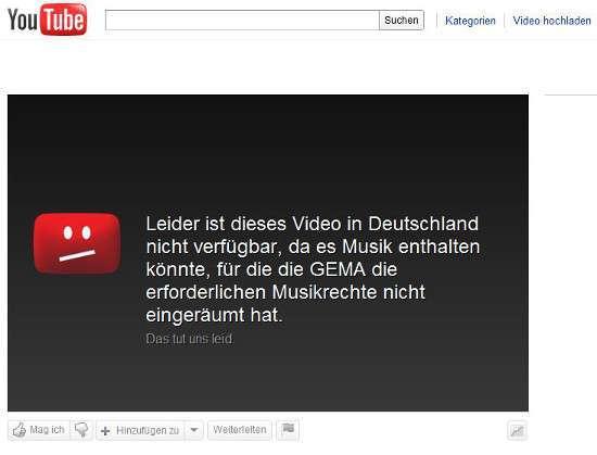 Il messaggio di YouTube