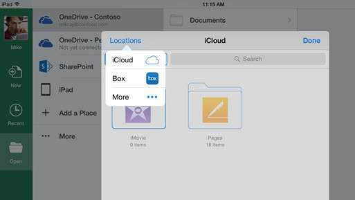 Office iOS storage