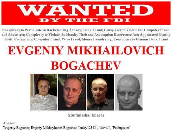Bogachev sulle pagine dell'FBI