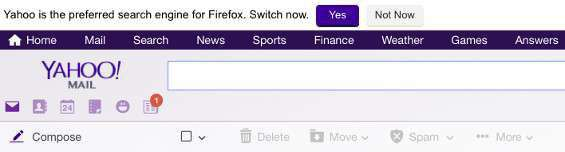 Yahoo e Firefox