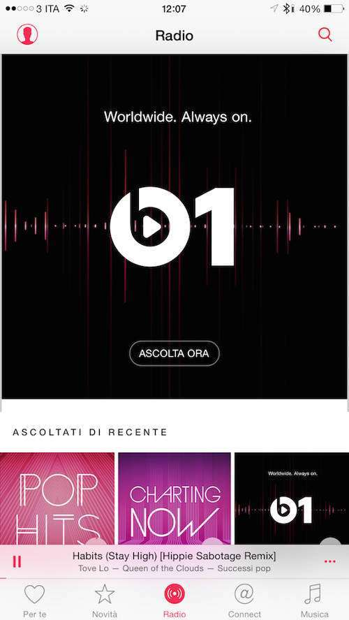 Apple Music, Radio Beats 1