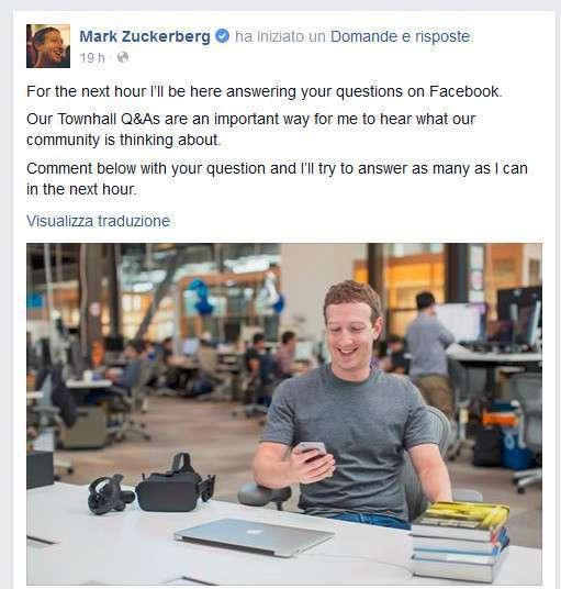 Zuckerberg Q&A