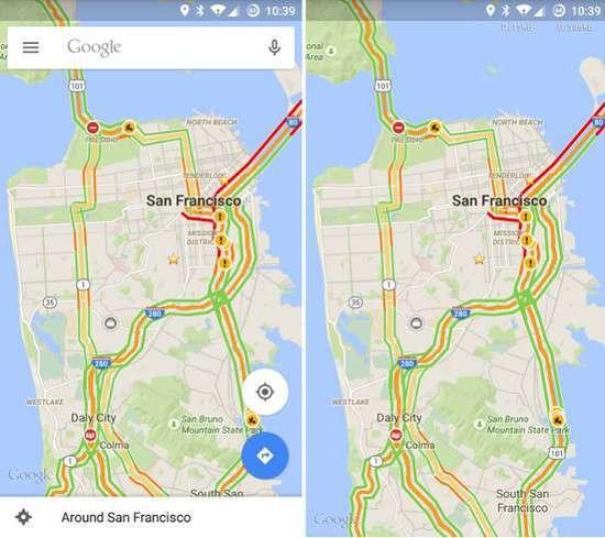 Google Maps a schermo intero