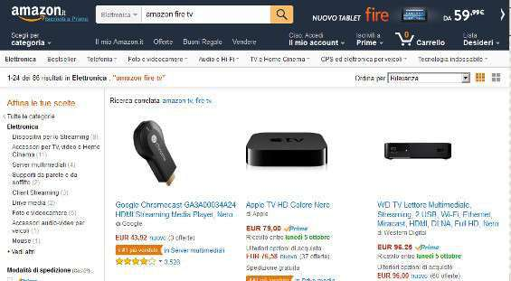 Amazon Fire TV Italia