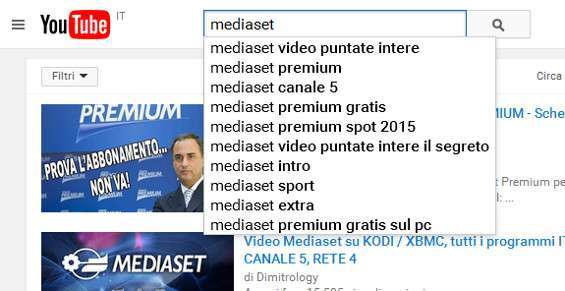 Mediaset su YouTube