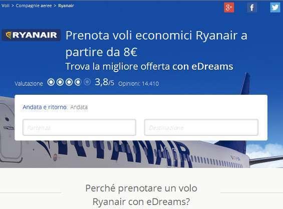 eDrams Ryanair