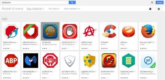 Adblocker su Play Store
