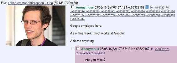 Moot assunto a Google