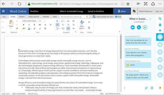 Skype Office Online