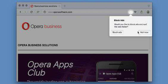 Opera adblocker