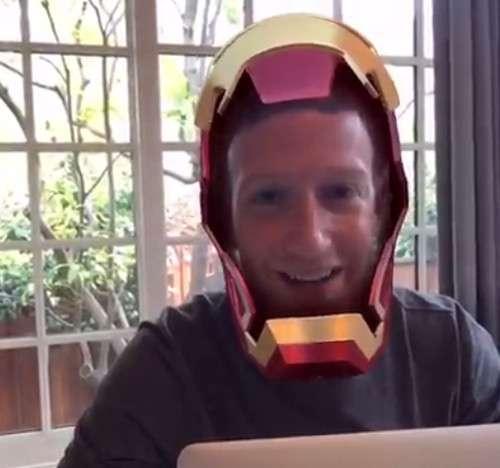 Zuckerberg in maschera