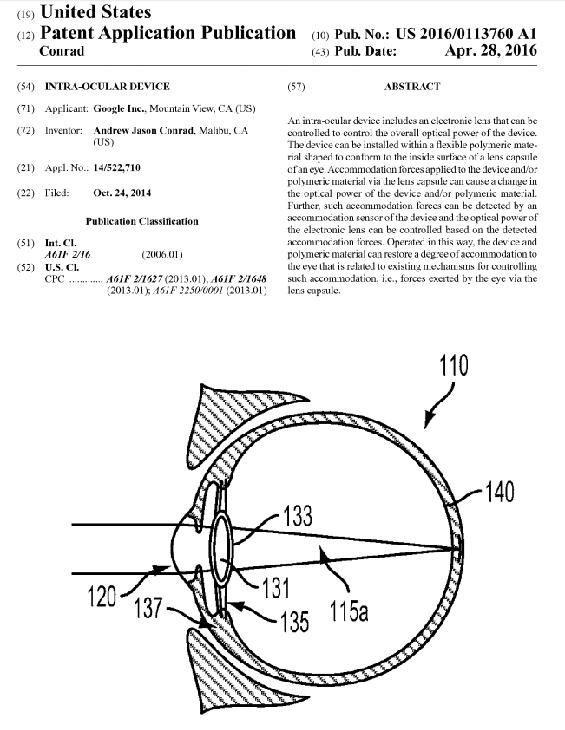 Pubblicazione del brevetto Google