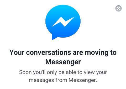Transizione a Messenger