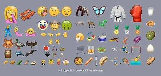 Ecco le 72 nuove emoji dell'Unicode 9.0