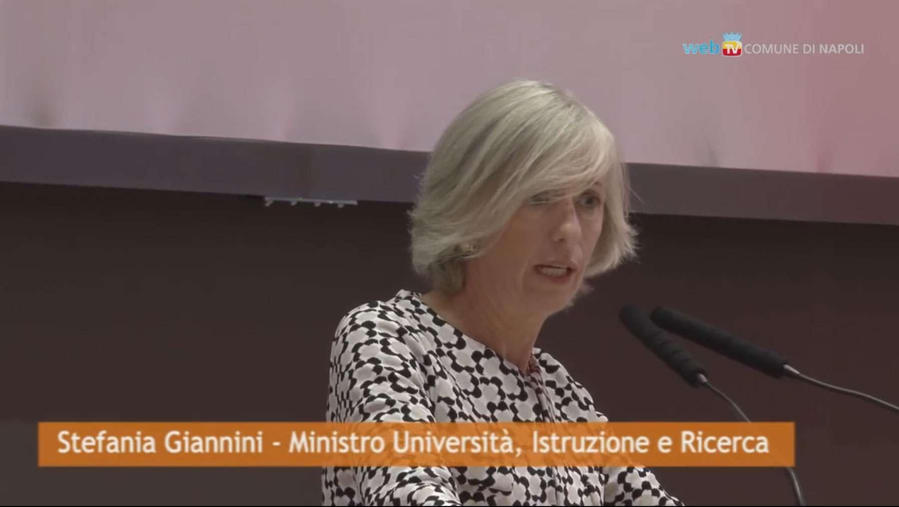 La Ministra dell'Università e della Ricerca, Stefania Giannini