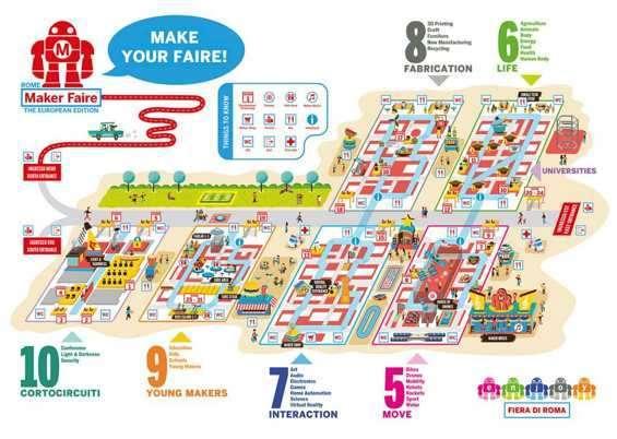 Mappa della Maker Faire 2016