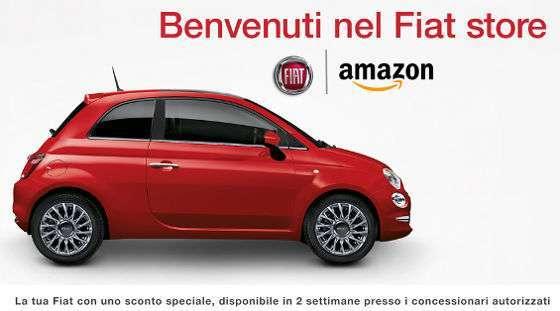 Fiat, accordo con Amazon. Ora la 500 si compra con un click