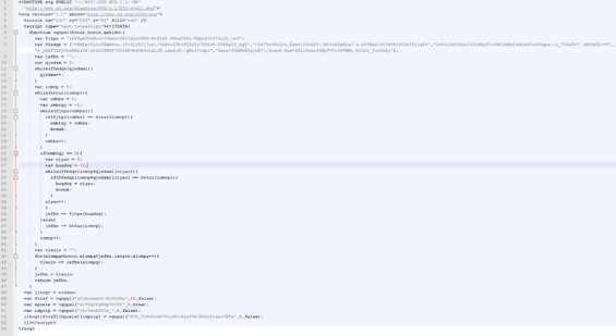 Codice dello script