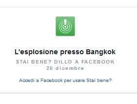 Facebook Safety Check a Bangkok
